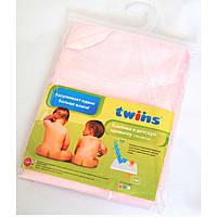 Детская махровая дышащая клеенка Twins 100×70 см, розовый