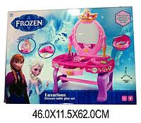 """Туалетный столик """"FROZEN"""" 88018-01 (1370467) батар,свет,звук,зеркало,фен,аксесс,в кор. 46*12*62см"""