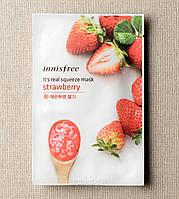 Innisfree It's Real Squeeze Mask Strawberry Маска с натуральным клубничным соком