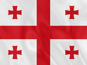 Флаг Грузии (Аппликация) - (1м*1.5м), фото 3