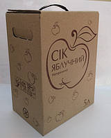 "Коробка 5л ""Сік яблучний"" с печатью в один цвет"