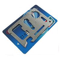Мультитул инструмент 11 в 1 в форме кредитной карты + чехол