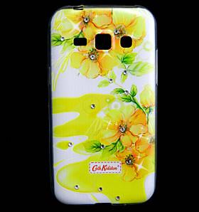 Чехол накладка для Samsung Galaxy J1 J100 силиконовый Diamond Cath Kidston, Sun Flowers
