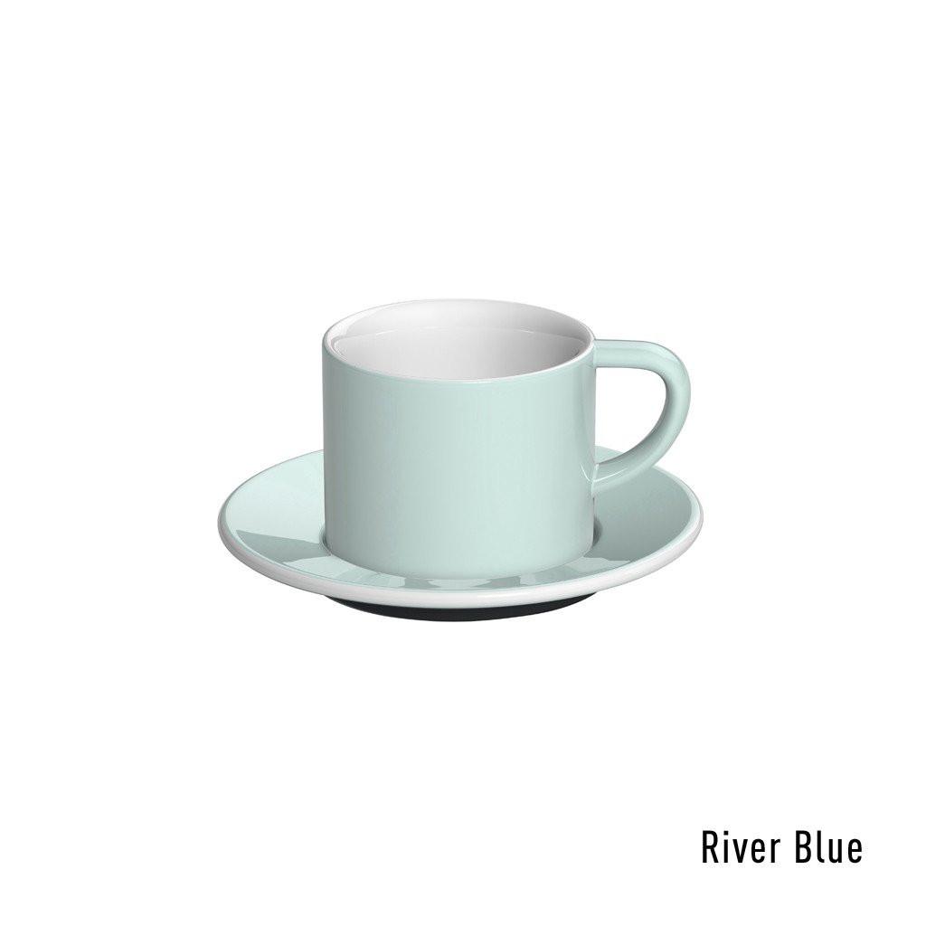 Набір чашка та блюдце для  капучіно 150ml Cappuccino Cup & Saucer - WBC 2016 Brew Bar Cups (Blue river)