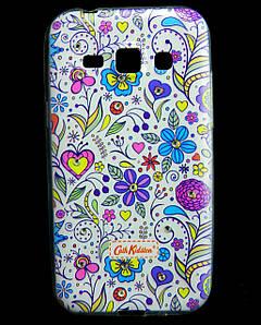 Чехол накладка для Samsung Galaxy J1 J100 силиконовый Diamond Cath Kidston, Цветочная фантазия