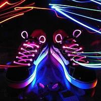 Шнурки светящиеся Light UP Shoelaces Glow Stick для дискотеки