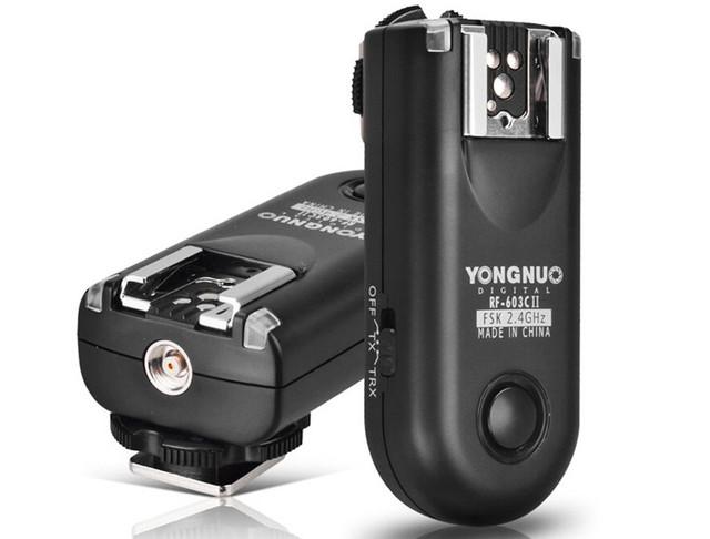 Набор трансиверов Yongnuo RF-603 II для удаленного управления вспышками