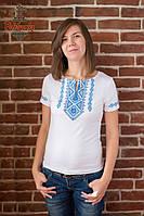 Жіноча вишита футболка Традиційна синя