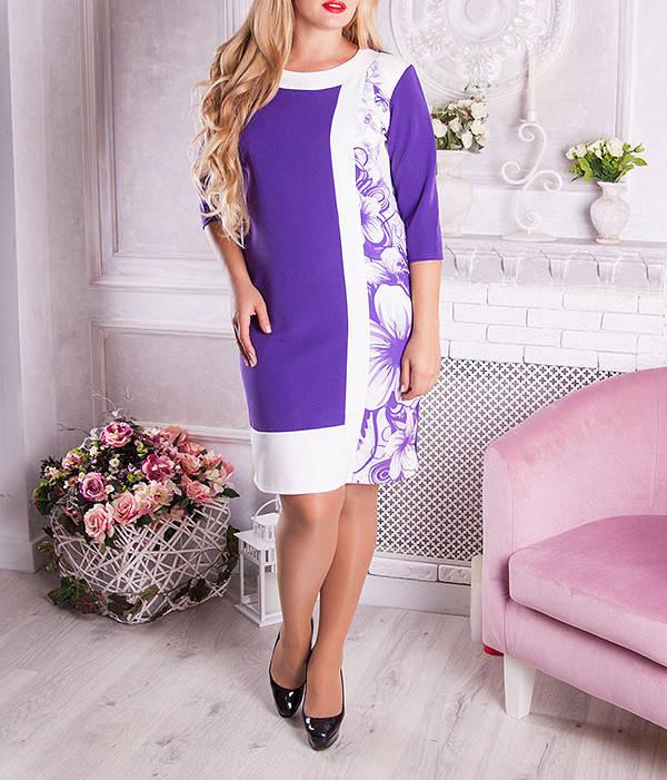 """Платье большого размера """"Цветана Лило"""" для полных девушек"""