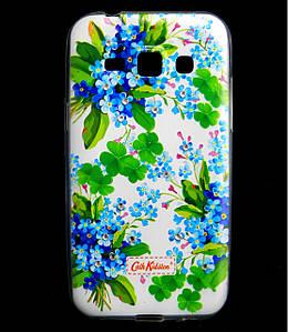 Чехол накладка для Samsung Galaxy J1 J100 силиконовый Diamond Cath Kidston, Прекрасные незабудки