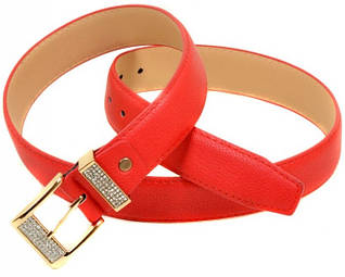 Яркий Ремень Женский кожзам H2115-2 red, красный, ДхШ: 100х3,2 см