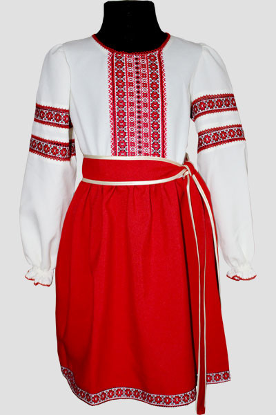 Вишите плаття для дівчинки  Подолянка молочний 104 - Nikashop в Киеве dd1a2bbbd2f6c
