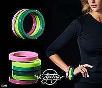 Пластиковые браслеты-кольца