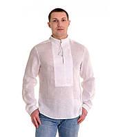 Рубашка вышитая гладью «Снежинка» белая