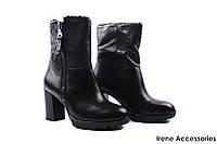 Ботильоны женские кожаные Tosca Blu (ботинки, стильные, каблук,шерсть, антискользящая подошва, Италия)