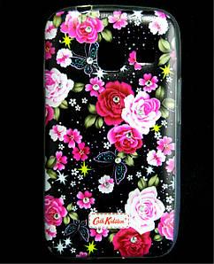 Чехол накладка для Samsung Galaxy J1 MINI J105 силиконовый Diamond Cath Kidston, Ночные розы