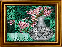 """Схема для вышивания бисером на атласе """"Сакура. Символ молодости и красоты"""" АЕ-3008"""