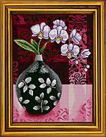 """Схема для вышивания бисером на атласе """"Орхидея. Символ совершенства и гармонии"""" АЕ-3009"""