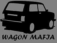 Виниловая наклейка на авто мафия (от 15х15 см)