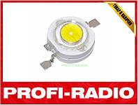 Светодиод белый 1Вт 90-100лм 3.2-3.6В качественный сверхяркий LED светодиод 1W