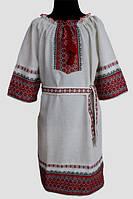 Вишите плаття для дівчинки: Українка льон
