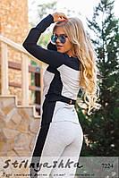 Женский повседневный костюм серый с черным