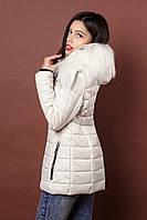 Зимняя женская молодежная куртка. Код К-78-36-17. Цвет молочный.