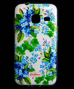 Чехол накладка для Samsung Galaxy J1 MINI J105 силиконовый Diamond Cath Kidston, Прекрасные незабудки