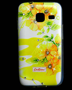 Чехол накладка для Samsung Galaxy J1 MINI J105 силиконовый Diamond Cath Kidston, Sun Flowers
