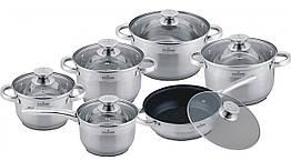 Набор сковородок и кастрюль 12 предметов MAXMARK MK-3512A