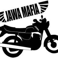 Виниловая наклейка на мотоцикл (Ява мафия) (от 12х15 см)