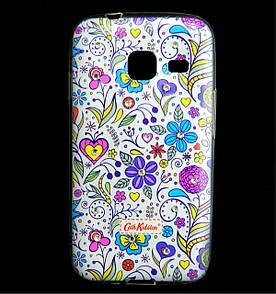 Чехол накладка для Samsung Galaxy J1 MINI J105 силиконовый Diamond Cath Kidston, Цветочная фантазия