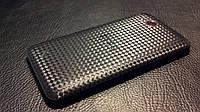 """Декоративна захисна плівка для HTC Desire VC t328d """"карбон кубик чорний"""", фото 1"""