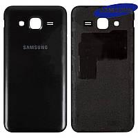 Задняя крышка батареи для Samsung Galaxy J5 J500H / DS, черный, оригинал