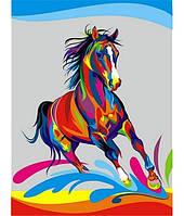 Картина по номерам Turbo Радужный конь VK040