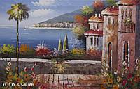 """Картина маслом """"Средиземноморье"""" Размер 60*90 см"""