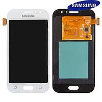 Дисплейный модуль (дисплей + сенсор) для Samsung Galaxy J1 Ace J110, белый, оригинал
