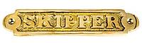 "Табличка ""Skipper"" бронзовая"