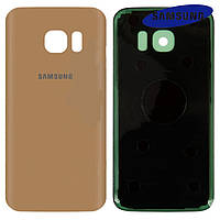 Задняя панель корпуса (крышка аккумулятора) для Samsung Galaxy S7 G930F, золотистая, оригинал