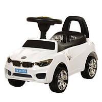 Каталка-толокар для малышей M 3147B-1 BMW прорезиненные колеса