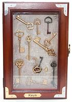 "Ключница настенная деревянная ""Ключи"" 30 см"