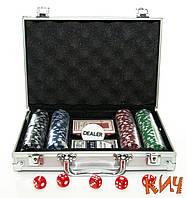 Покер на 200 фишек в кейсе