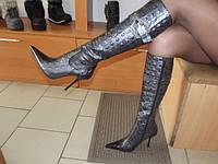 Сапоги женские кожаные № 102-91 аметист