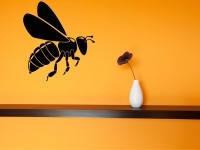 Виниловая интерьерная наклейка - Пчела (от 15х15 см)