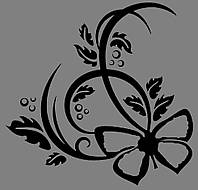 Виниловая интерьерная наклейка - Узор 2 (от 15х15 см)