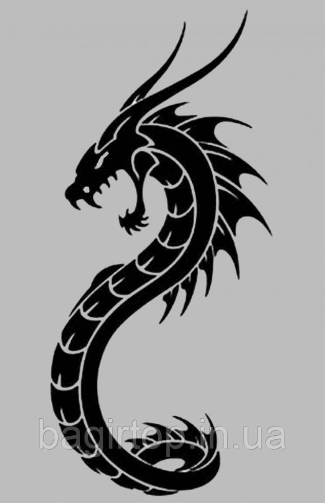 Вінілова інтер'єрна наклейка Дракон (від 20х10 см)
