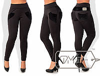 Женские брюки лосины на меху большого размера, 48, 50, 52, 54