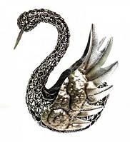 Лебедь металлический 21 см