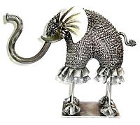 Слон металлический 30 см