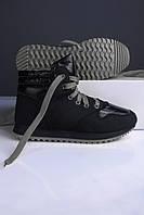 Кроссовки женские чёрные с серым